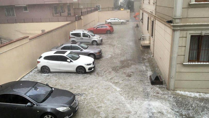 Son dakika haberi! İstanbul'da sağanak ve dolu yağışı etkili oldu!