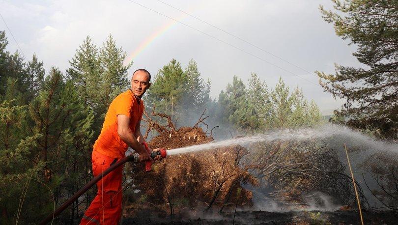 Son dakika haberi! Bolu'da yıldırım düşmesi sonucu orman yangını çıktı!