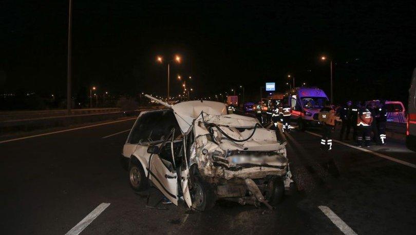 Ankara'da TIR otomobile arkadan çarptı: 2 ölü