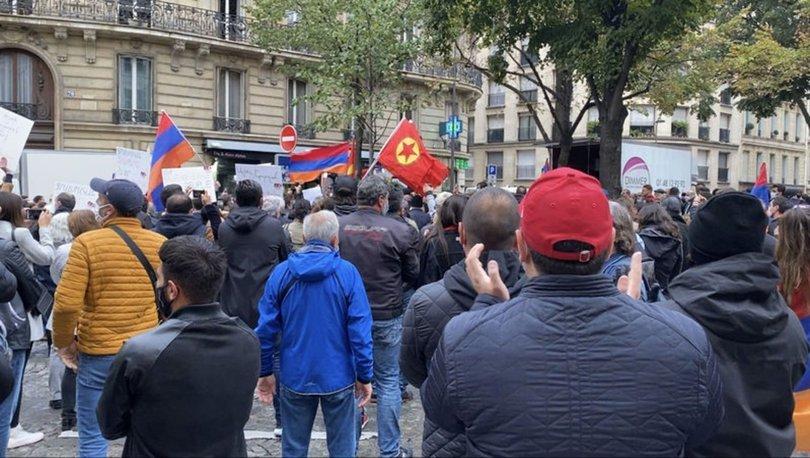 Paris'te PKK yandaşları ve Ermeniler beraber gösteri düzenledi!