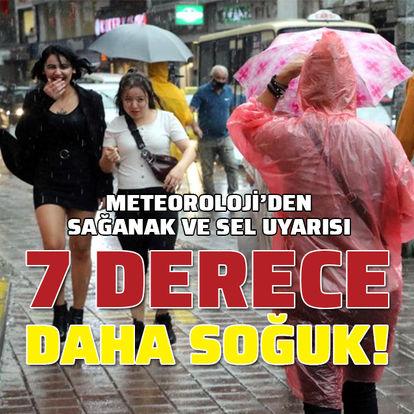 Sıcaklıklar 7 derece düşüyor, Karadeniz'de sağanak var