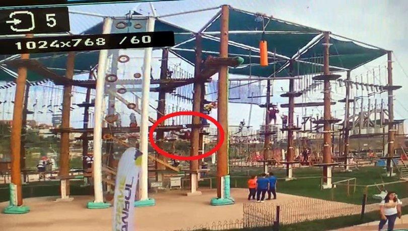 Oyun parkında oynarken 5 metreden düştü!