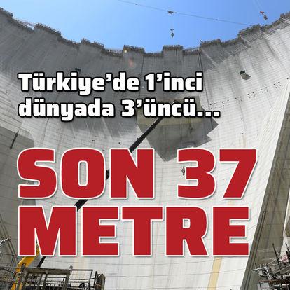 Türkiye'nin en büyüğü! 37 metre kaldı