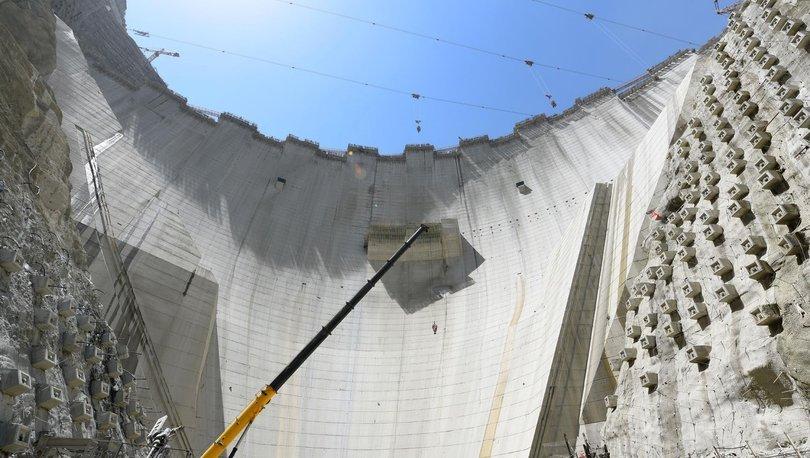 Yusufeli Barajı'nın tamamlanmasına 37 metrekaldı
