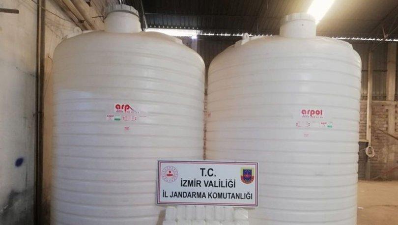 İzmir'de 11 bin litre etil alkol ele geçirildi