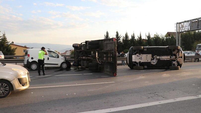 Anadolu Otoyolu'ndaki kaza ulaşımda aksamaya neden oldu