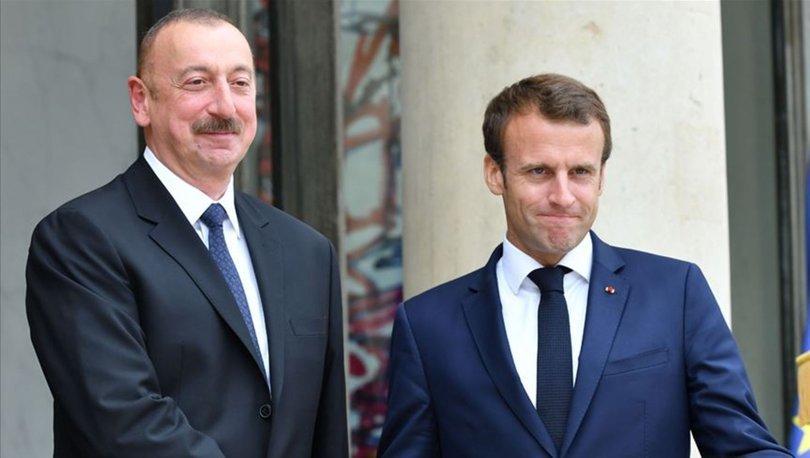 Son dakika! Azerbaycan Cumhurbaşkanı Aliyev ile Macron'dan Karabağ görüşmesi! - Haberler