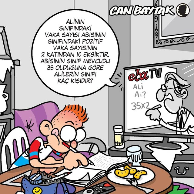 Can Baytak karikatürleri (Ekim 2020)