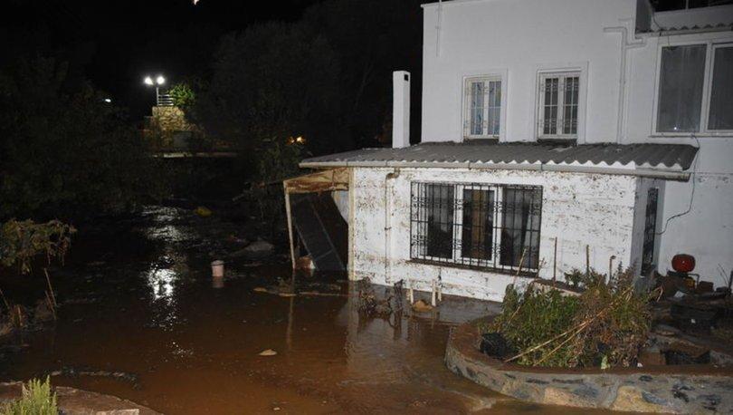 Bodrum'da içme suyu isale hattı patladı, 2 ev ve 1 iş yerini su bastı
