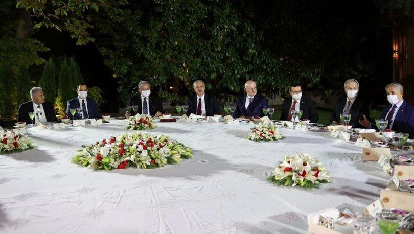 TBMM Başkanı Şentop, eski başkanlar ve yüksek yargı başkanlarıyla bir araya geldi