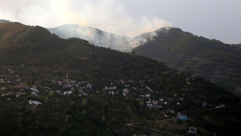 Kastamonu'nun İnebolu ilçesinde çıkan orman yangını kontrol altına alınmaya çalışılıyor