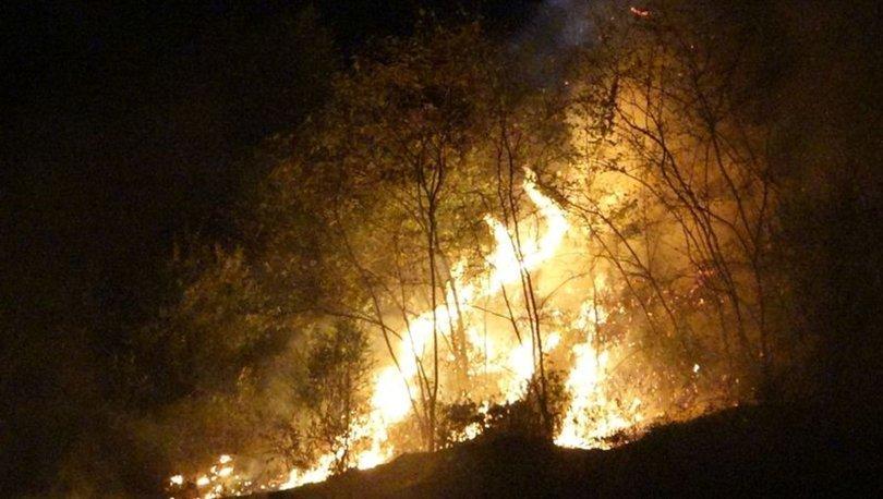 Trabzon'daki yangın nedeniyle büyük korku ve panik yaşandı