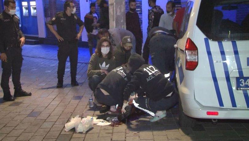 Taksim'de iki yabancı grup arasında kavgada 1 kişi yaralandı