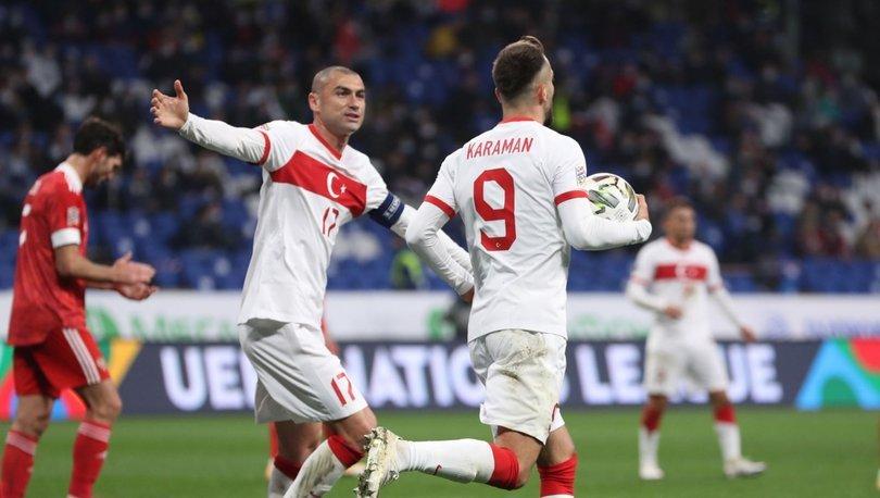 Rusya: 1 - Türkiye: 1 | MAÇ SONUCU - Rusya Türkiye maç özeti ve sonucu
