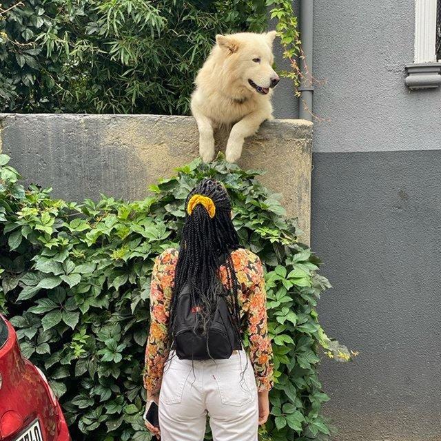 Halsey, Kuzguncuk'un maskotu Rocky ile fotoğrafını paylaştı