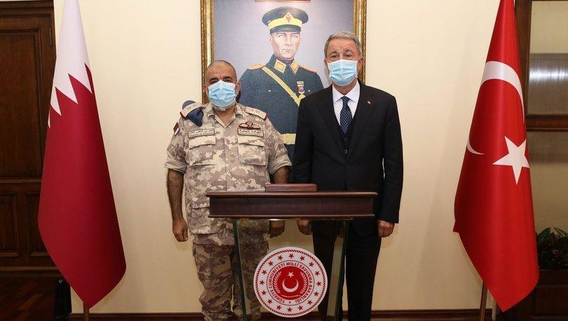 Milli Savunma Bakanı Akar, Katar Genelkurmay Başkanı Al-Ghanim'i kabul etti