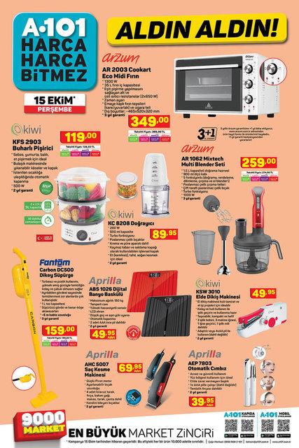 A101 15 Ekim 2020 Aktüel ürünler kataloğu! A101 haftanın indirimli ürünler listesi