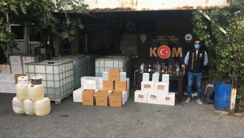 İstanbul'daki sahte içki operasyonunda 2 kişi gözaltına alındı