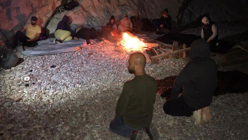 Marmaris ve Bodrum'da 19 kaçak göçmen kurtarıldı