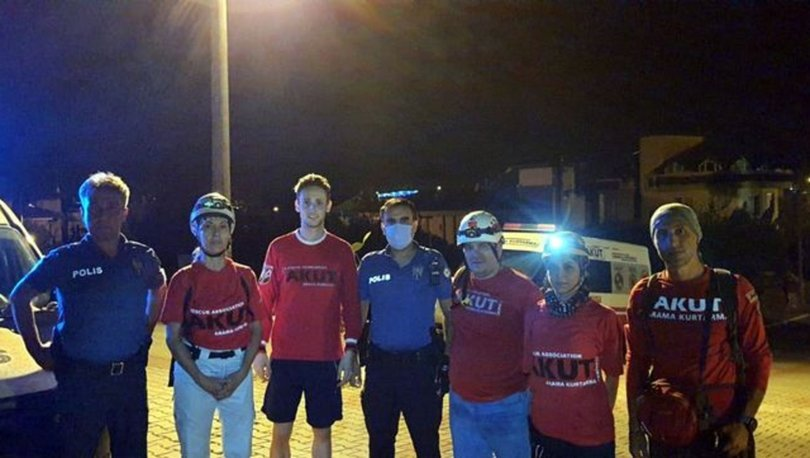 Marmaris'te kaybolan ABD'li turist 7 saat sonra bulundu