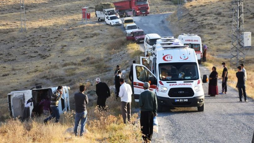 Son dakika! Malatya'da işçi servisi devrildi:14 yaralı - Haberler