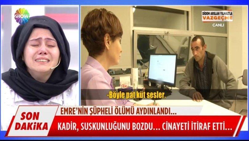 Son dakika haberi: Didem Arslan Yılmaz'la Vazgeçme'de 2.cinayet itirafı!