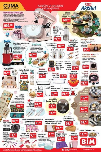 BİM aktüel ürünler kataloğu 2020! 16 Ekim BİM haftanın indirimli ürünler listesi...