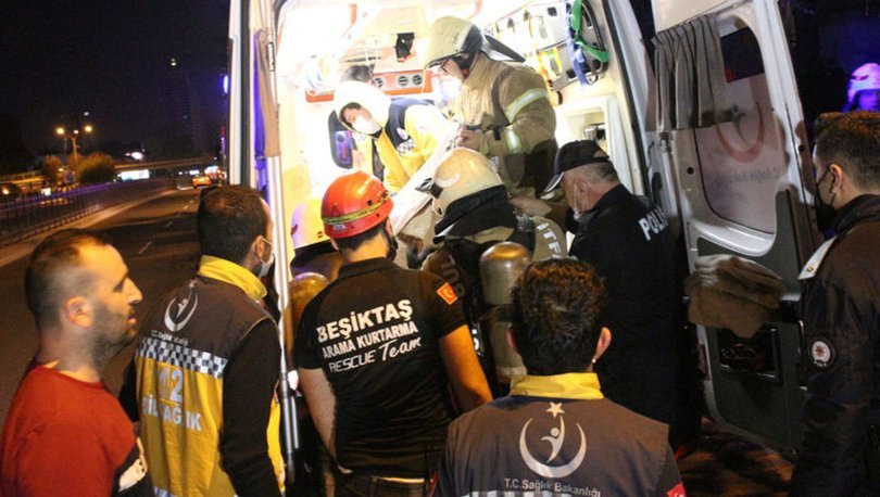 Beşiktaş'ta ev yangını: Yaşlı kadın ağır yaralandı