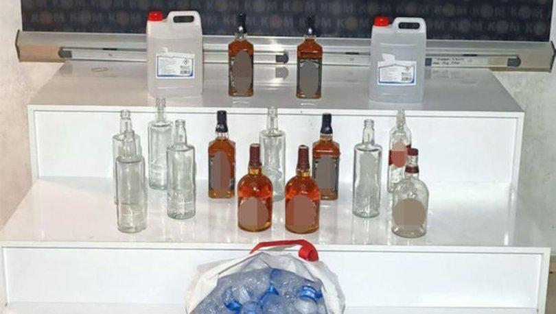 Trabzon'da 10 litre etil alkol ele geçirildi