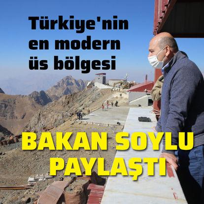 Son dakika! Bakan Soylu paylaştı: Türkiye'nin en modern üs bölgesi - Haberler
