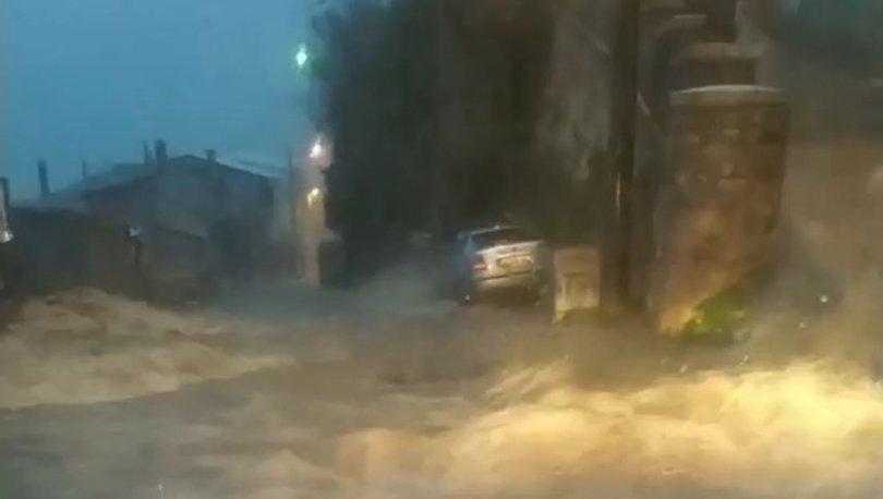 Son dakika BURSA'DA SEL: Bursa'da korkutan görüntü!