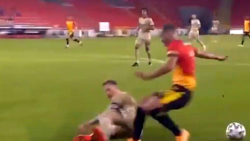 Göztepe - Fenerbahçe maçında tartışma yaratan penaltı!