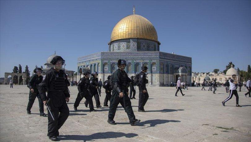 Filistinliler tepki gösterdi, İsrail korumasındaki BAE heyeti Mescid-i Aksa'yı terk etti