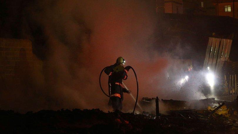 Ankara palet fabrikasında yangın