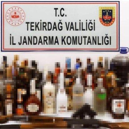 Tekirdağ'da 1 ton 636 litre kaçak içki ele geçirildi!
