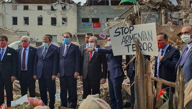 Son dakika Azerbaycan Ermenistan! TBMM Başkanı Şentop, Ermenistan'ın sivillere saldırdığı Gence'de! - Haberler