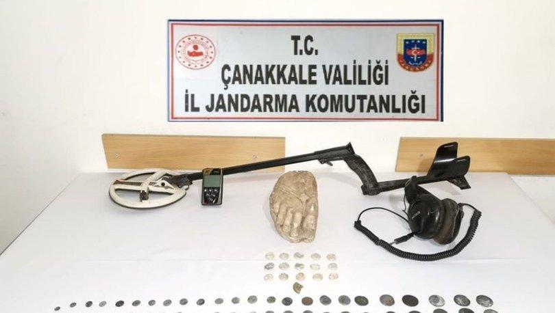 Çanakkale'deki tarihi eser operasyonunda 2 kişi gözaltına alındı