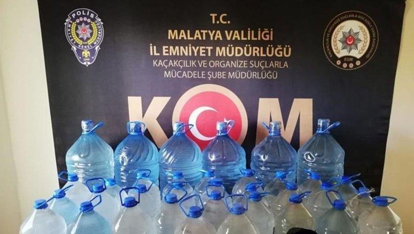 Malatya'da sahte içki operasyonu: Tam 269 litre ele geçirildi
