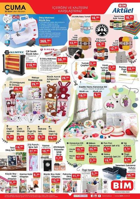 BİM 30 Ekim 2020 Aktüel ürünler kataloğu! BİM haftanın indirimli ürünler listesi