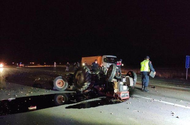 Traktör sürücüsünün feci ölümü