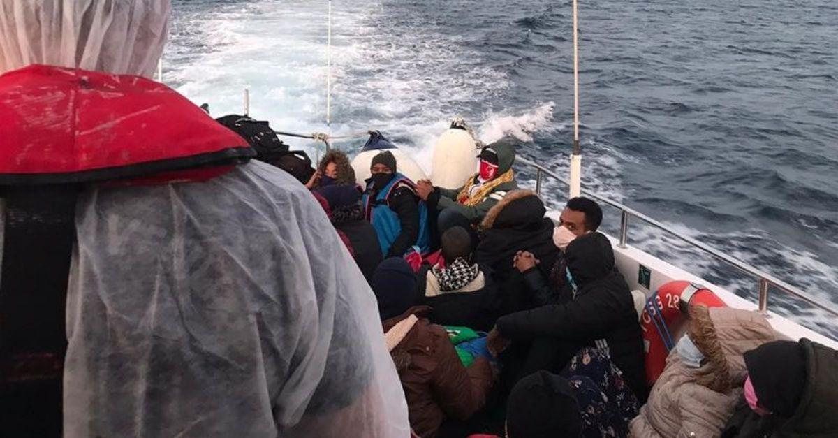34 yabancı uyruklu kurtarıldı