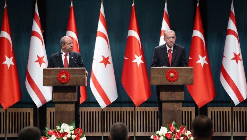 Son dakika... Cumhurbaşkanı Erdoğan'dan Kıbrıs açıklaması: Doğu Akdeniz'de oyunu...