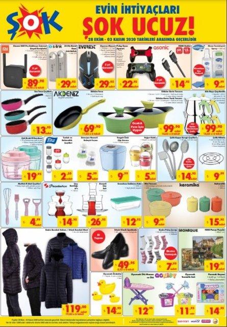 ŞOK 28 Ekim haftanın ürünleri! ŞOK indirimli ürünler listesi