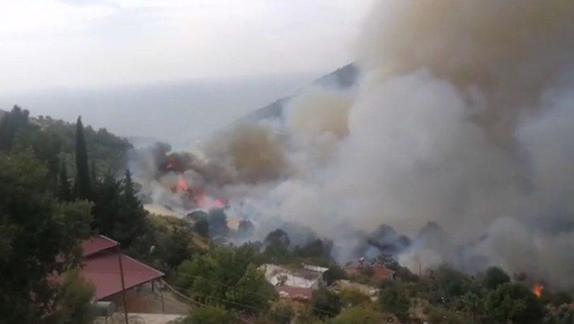 Son dakika: Korkutan yangın! Alevler yerleşim yerlerine yaklaştı - Haberler