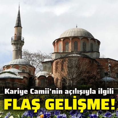 Kariye Camii'nin açılışıyla ilgili flaş açıklama!