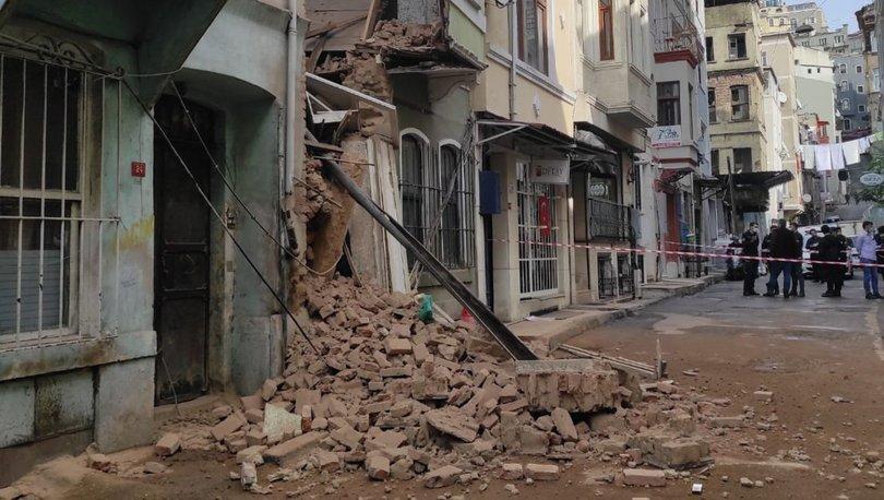 Son dakika: Beyoğlu'nda 2 katlı bina çöktü! - Haberler