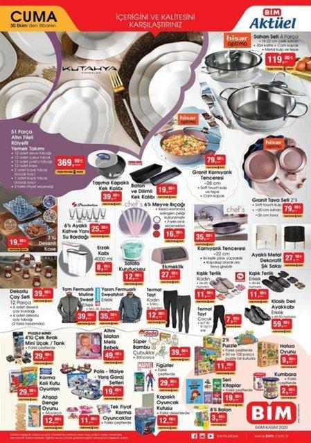 30 Ekim 2020 BİM aktüel ürünler kataloğu! BİM indirimli ürünler listesi