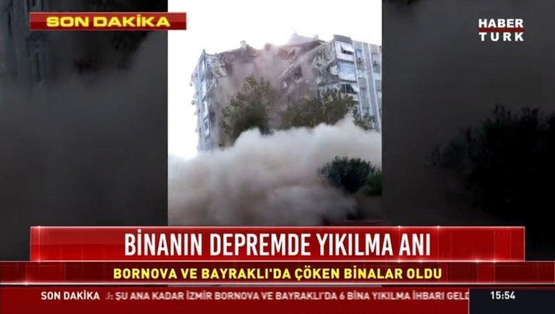 DEPREM GÖRÜNTÜLERİ: İzmir'deki deprem görüntüleri kameralara böyle yansıdı! - Haberler