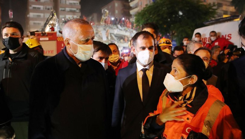 Son dakika: Cumhurbaşkanı Recep Tayyip Erdoğan İzmir deprem bölgesinde!