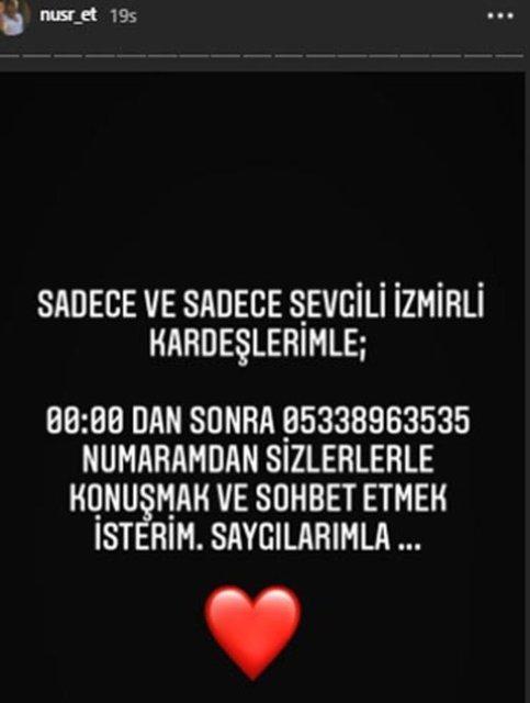 Nusret Gökçe İzmirliler için telefon numarasını paylaştı - Magazin haberleri
